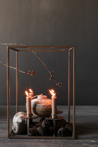 Metal bronze colored candle holder
