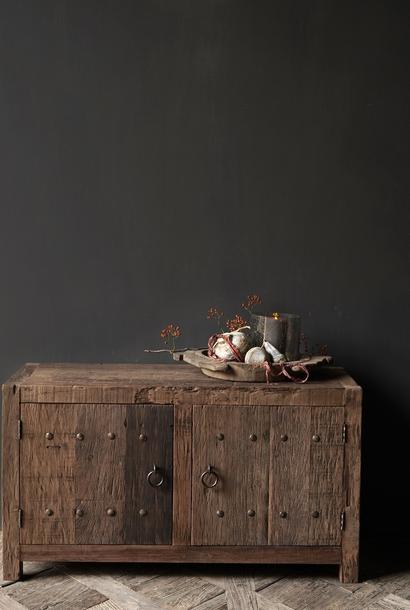 TV Furniture / sideboard made of old robust wood