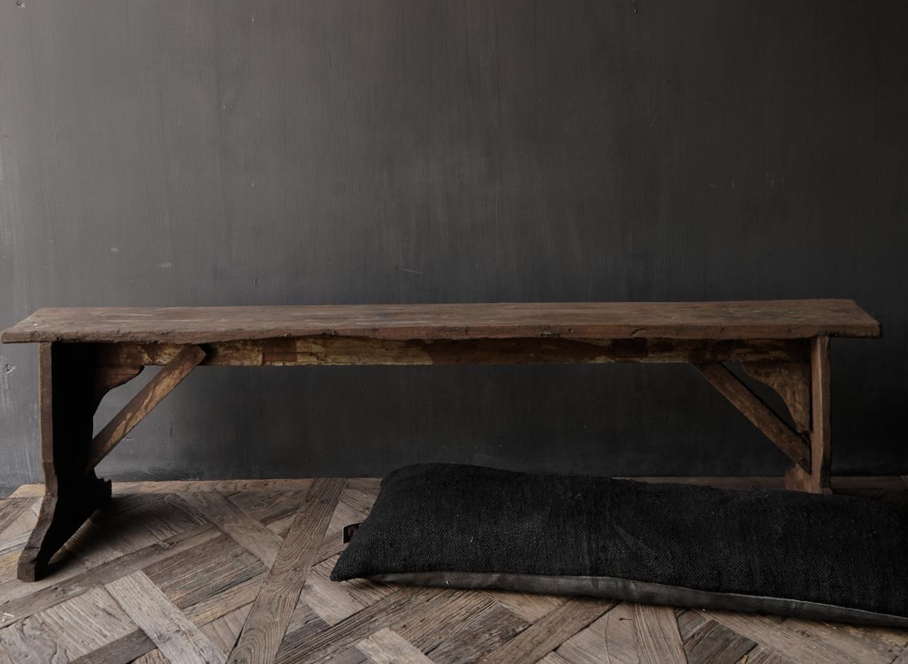 Oude houten Bank-3