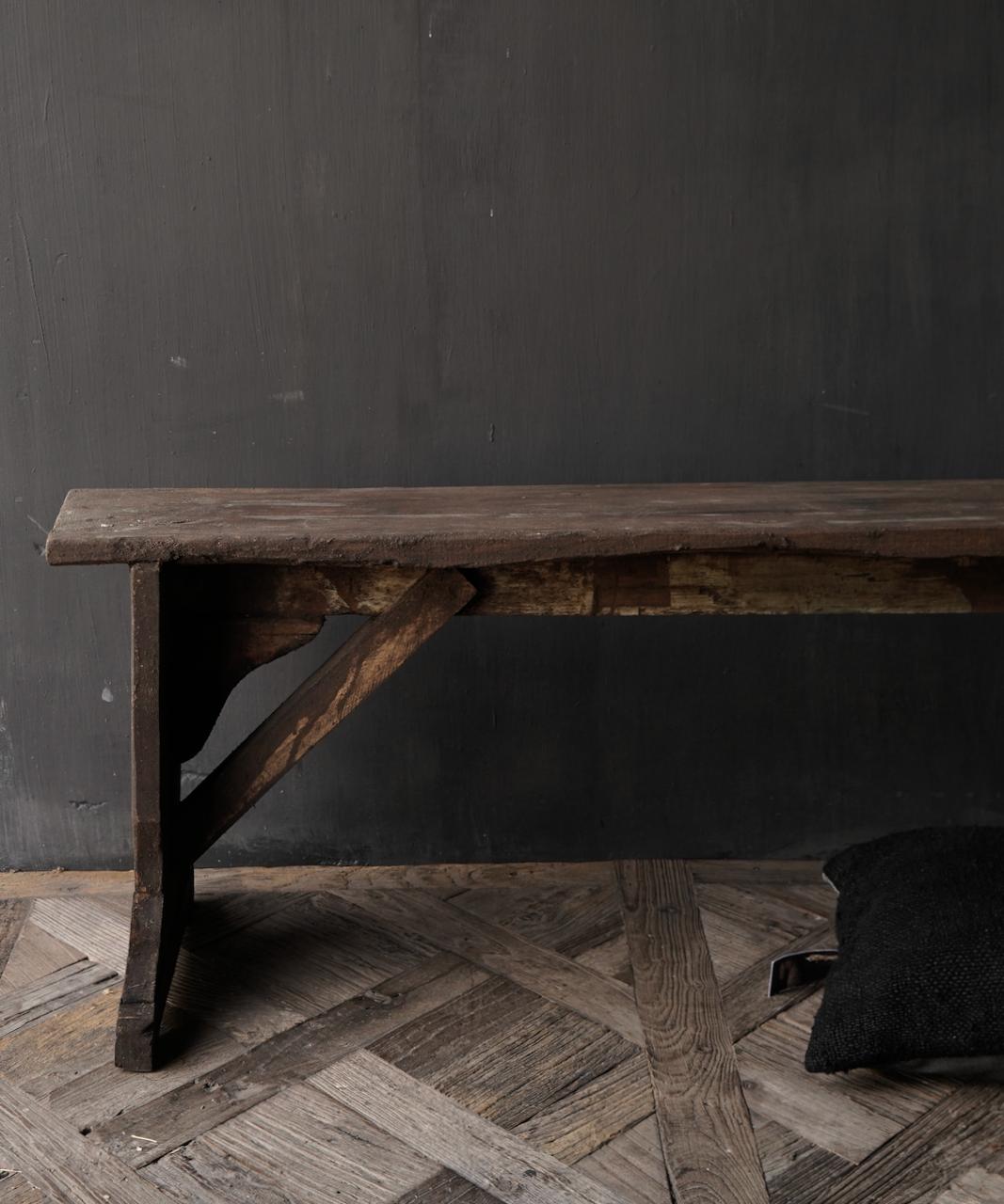 Oude houten Bank-6