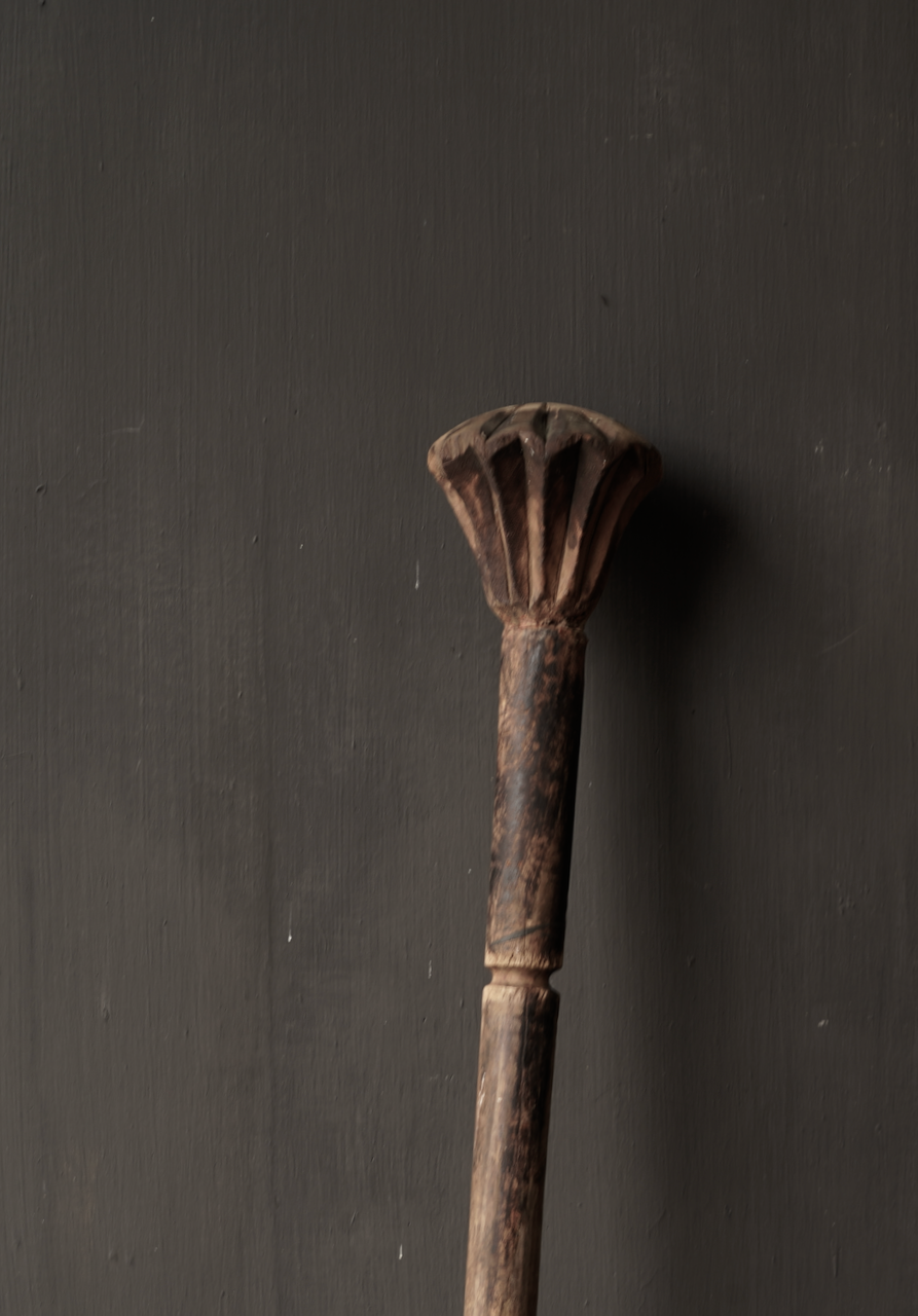 Old wooden Nepalese Pestle-2