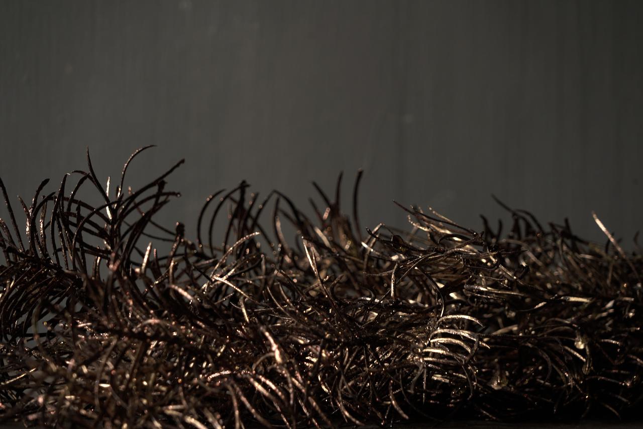 Christmas glitter branch copper-2