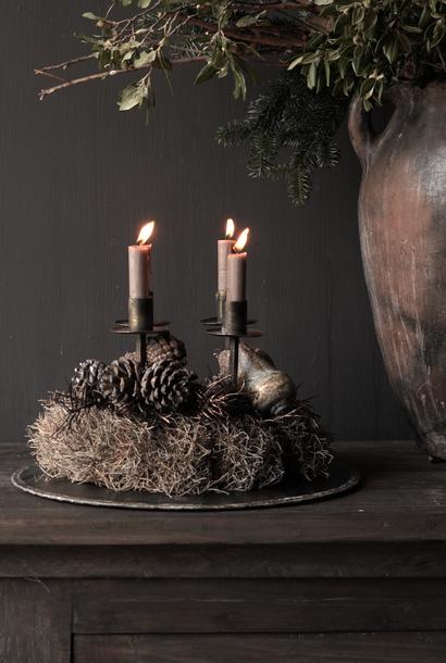 Kerzenhalter / Kerzenhalter aus Metallbronze / Gold
