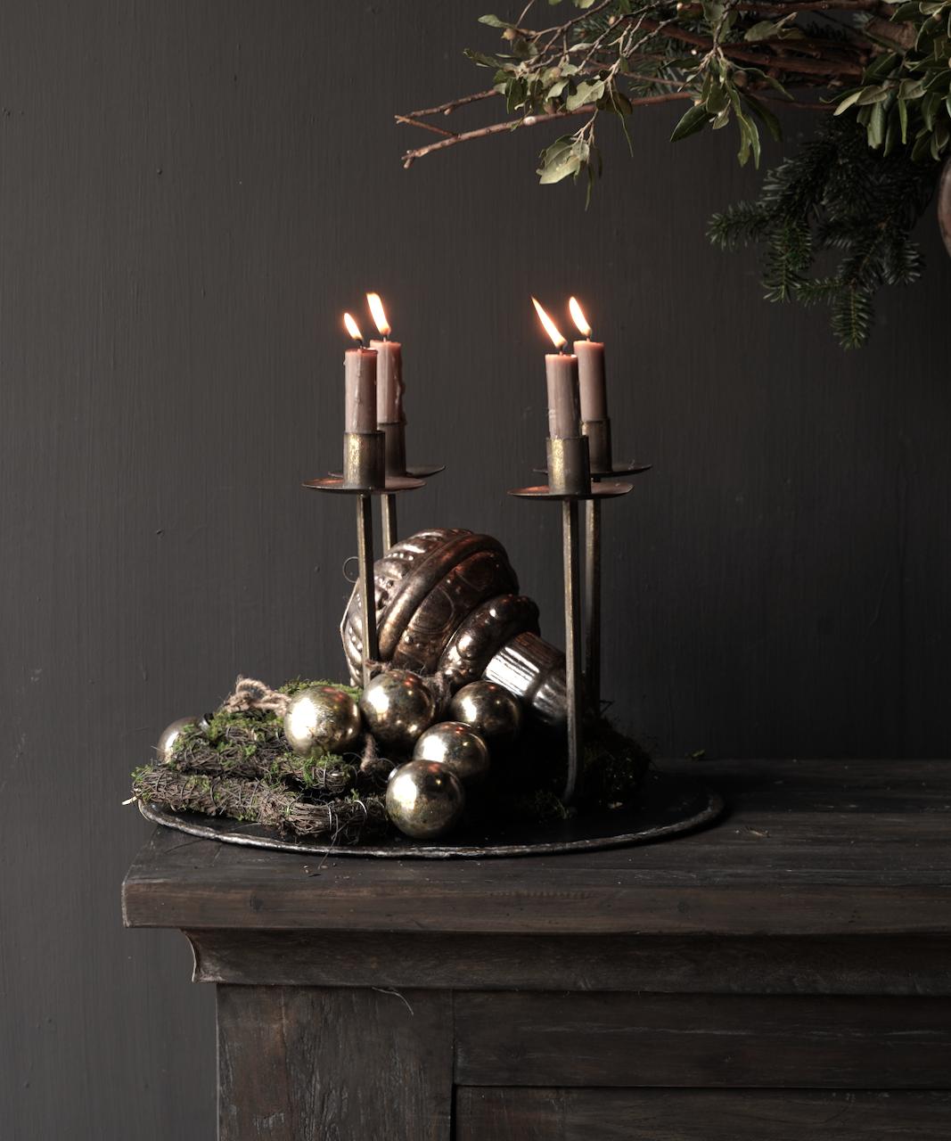 Metalen brons/goud kleurig kaarsen houder /kandelaar-3