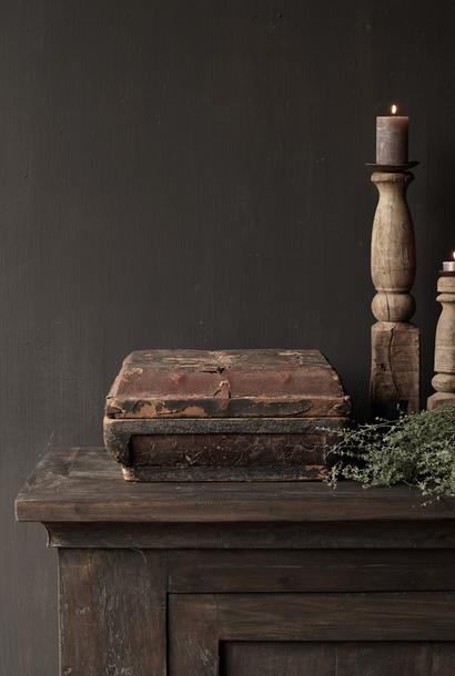 Authentieke oude houten Doos