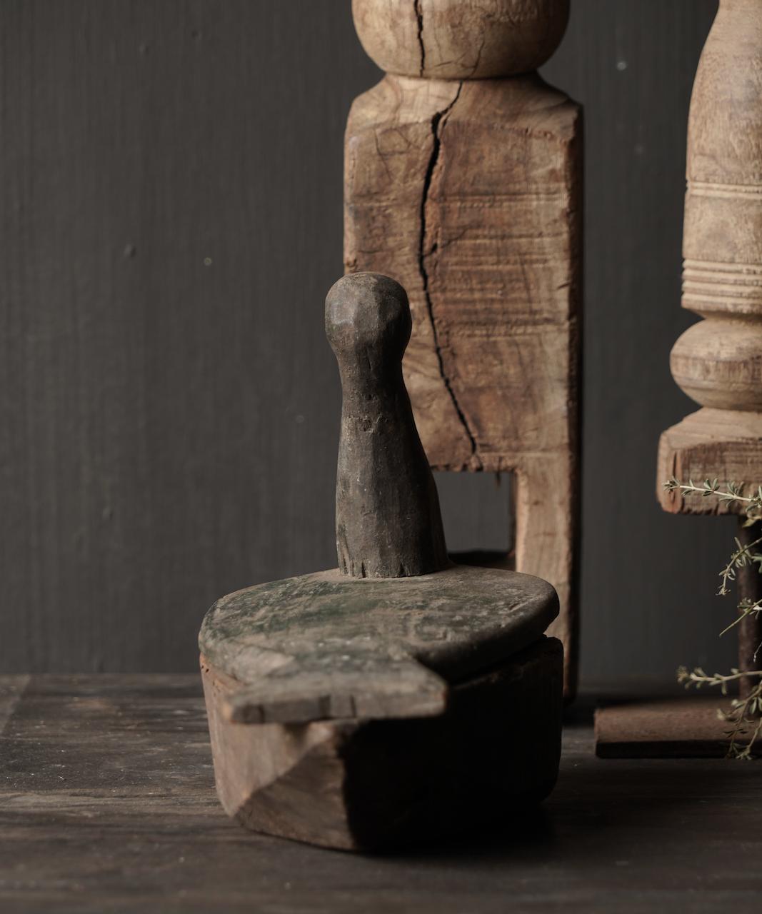 Oude nepaleese houten spice box-4
