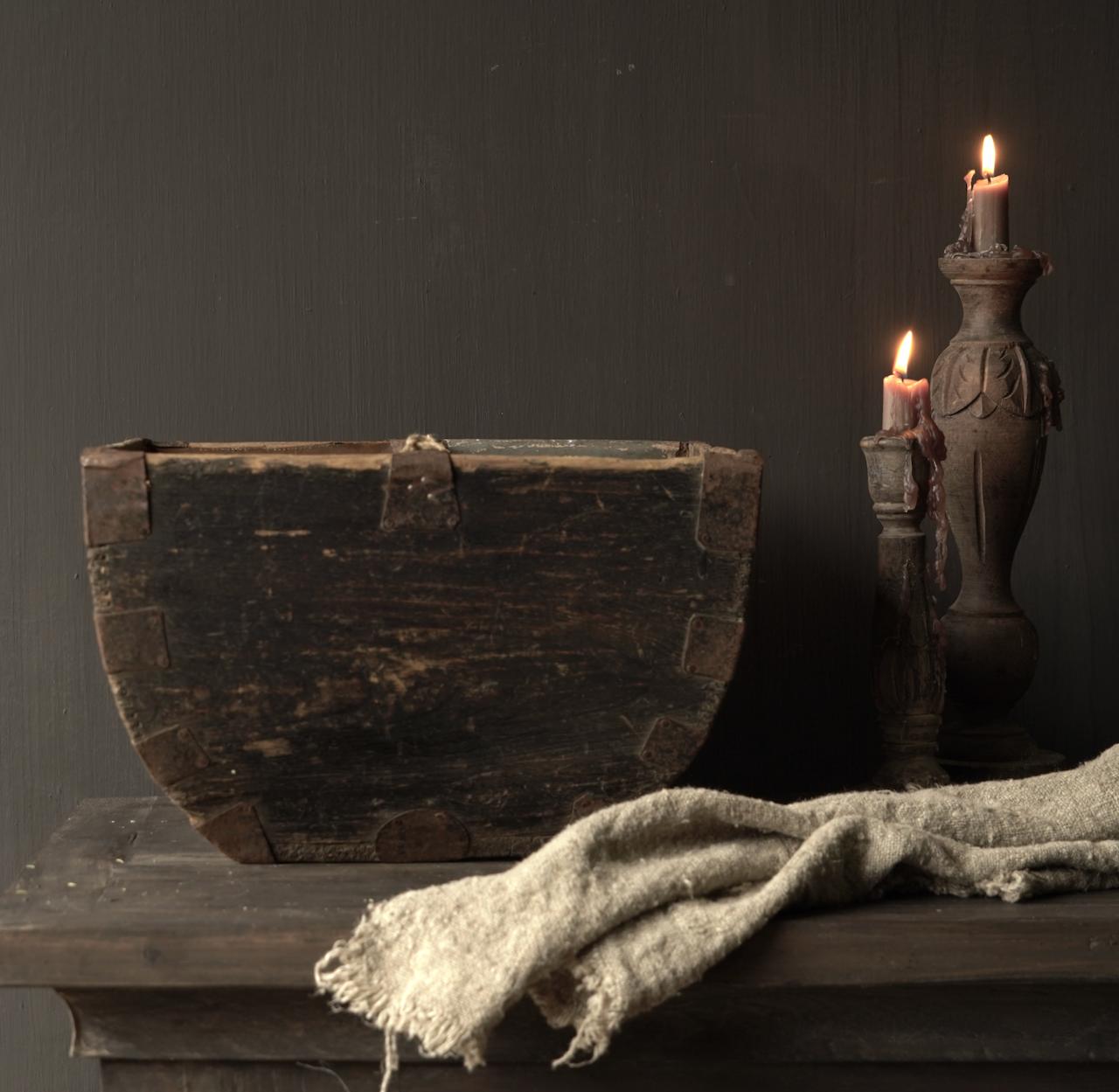 Oude houten zaai/Rijst bak-2