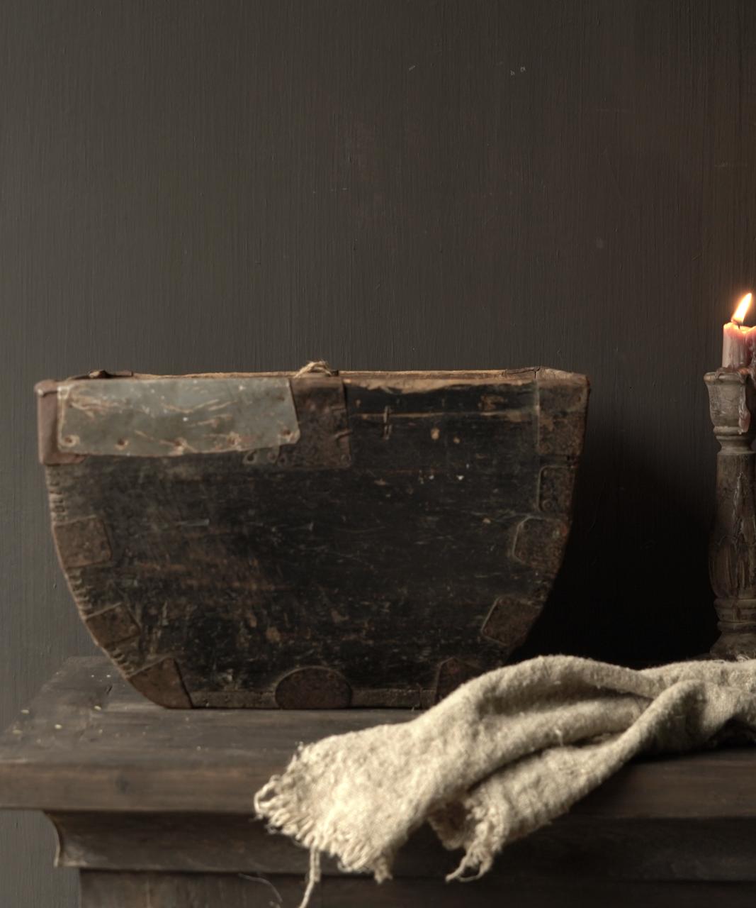 Oude houten zaai/Rijst bak-3