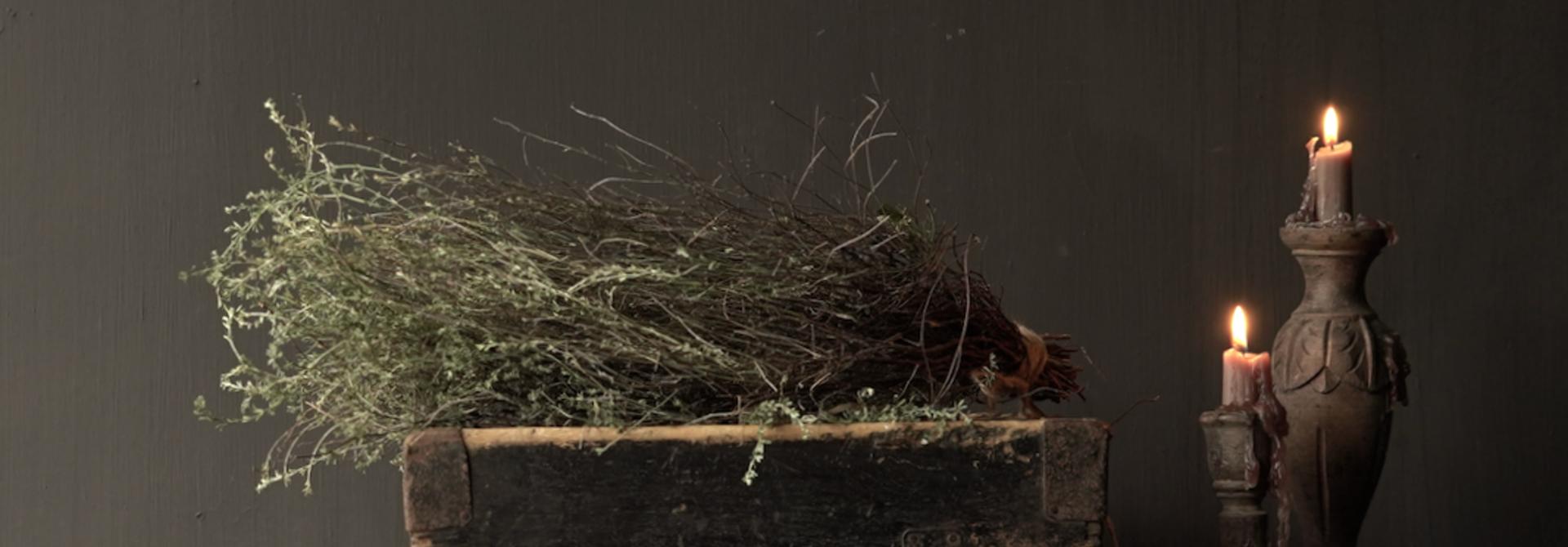 Oude houten zaai/Rijst bak