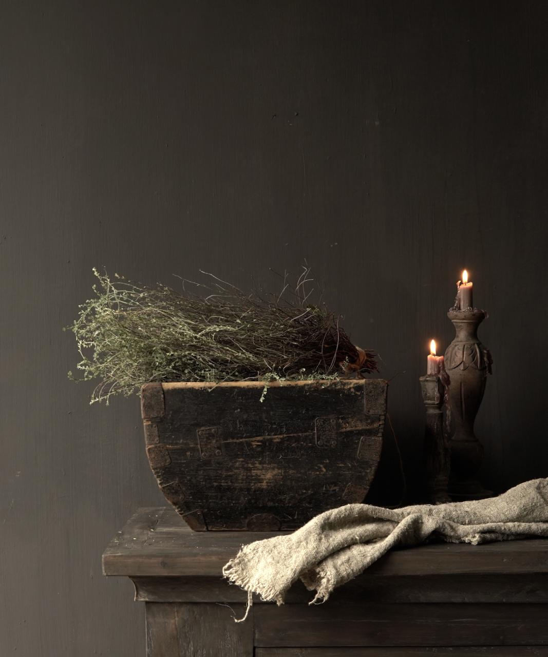 Oude houten zaai/Rijst bak-1