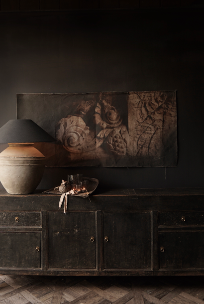 Altes authentisches schwarz / braunes Sideboard