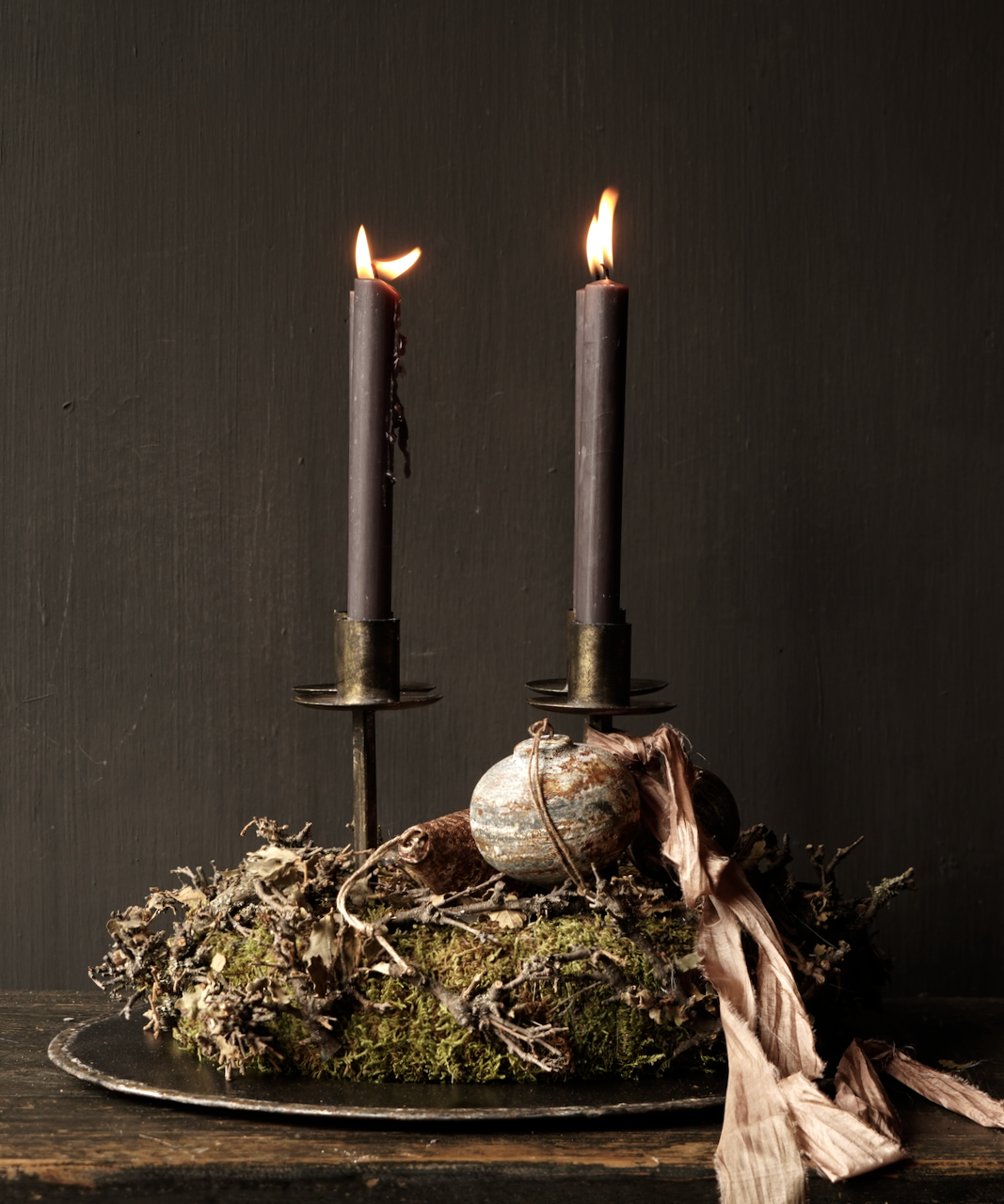 Moss wreath with twigs-1