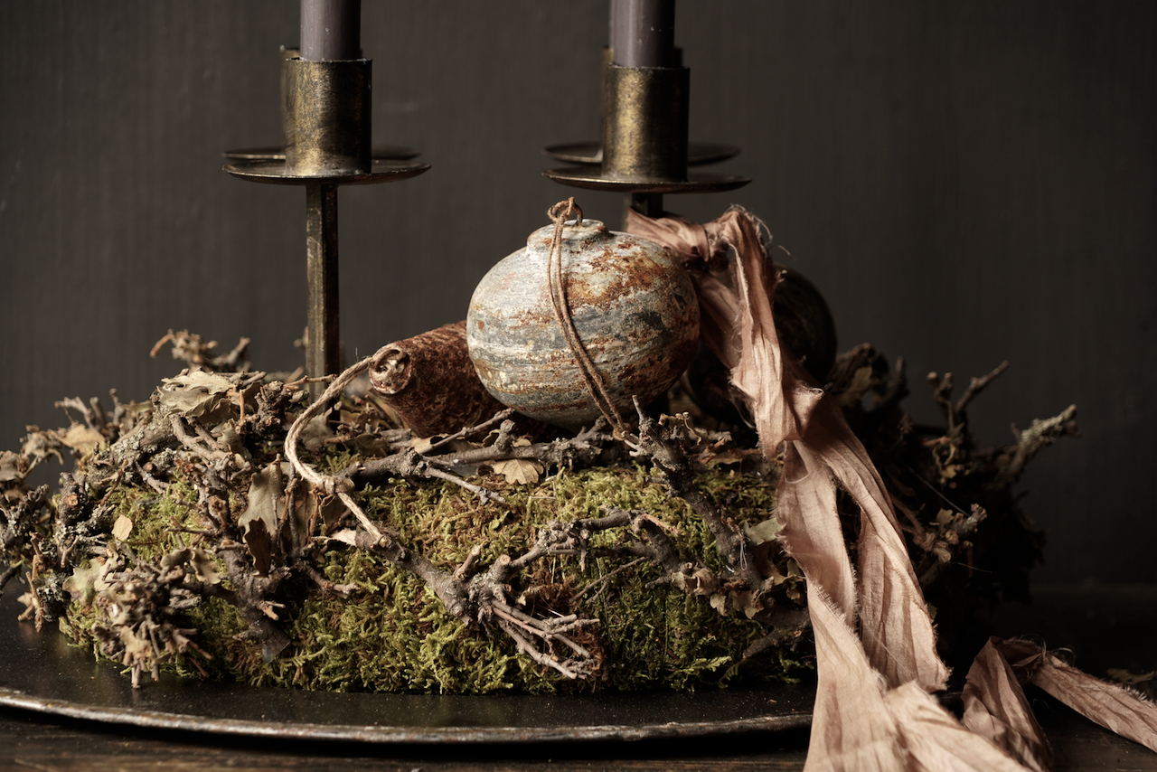 Moss wreath with twigs-2