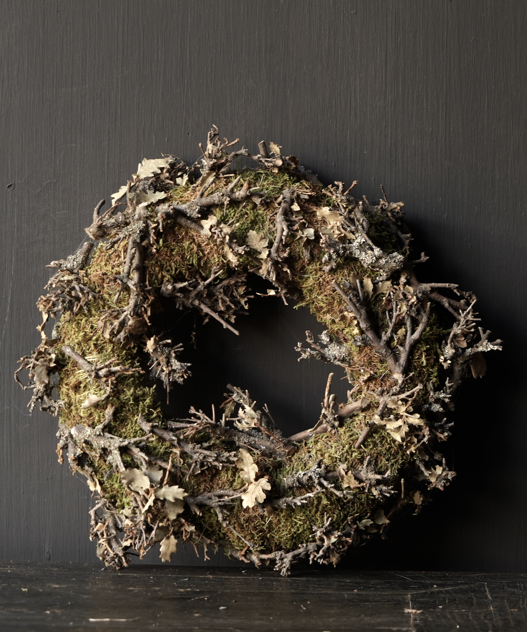 Moss wreath with twigs-3