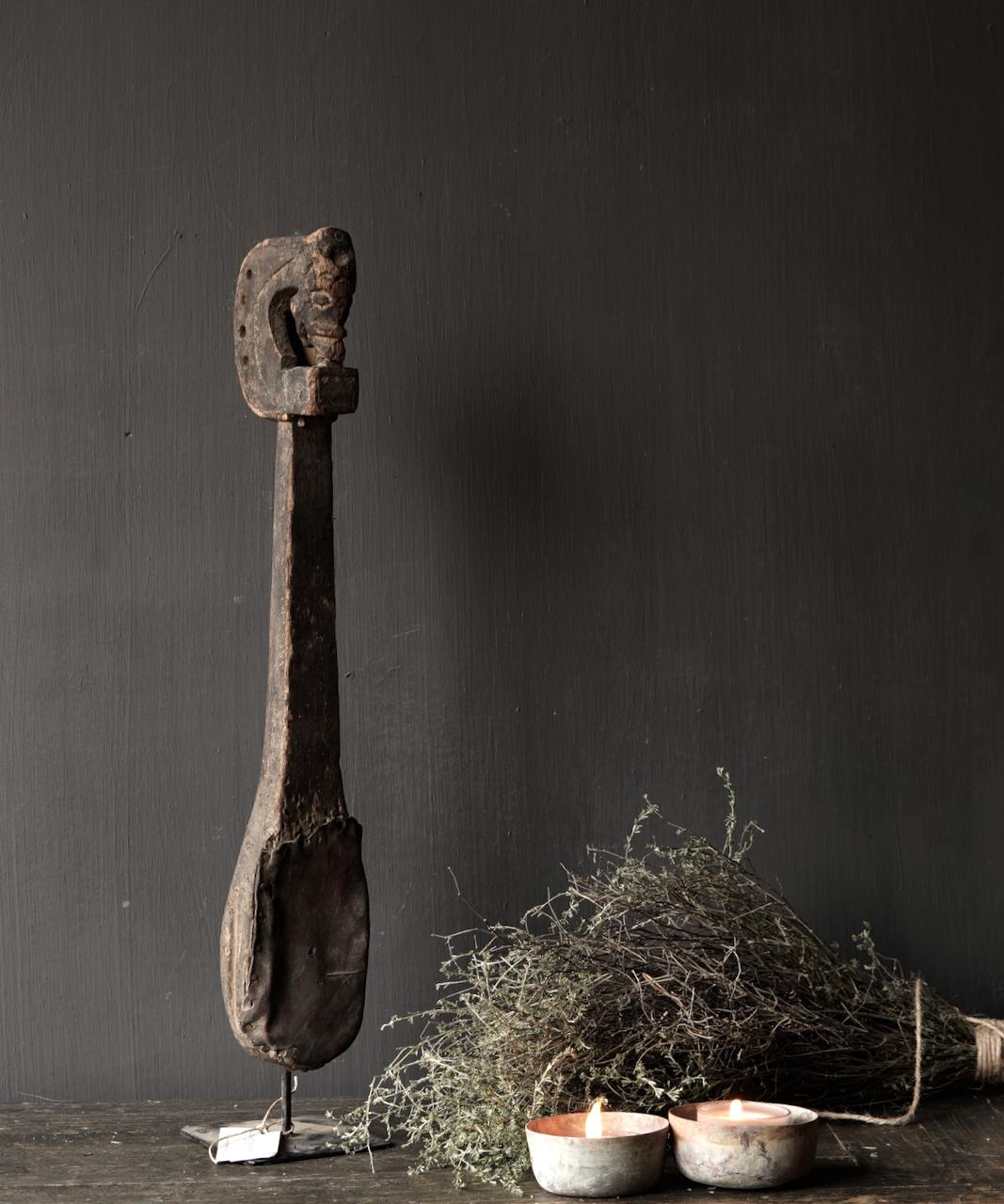 Uniek oud houten Indisch Sarangi-1