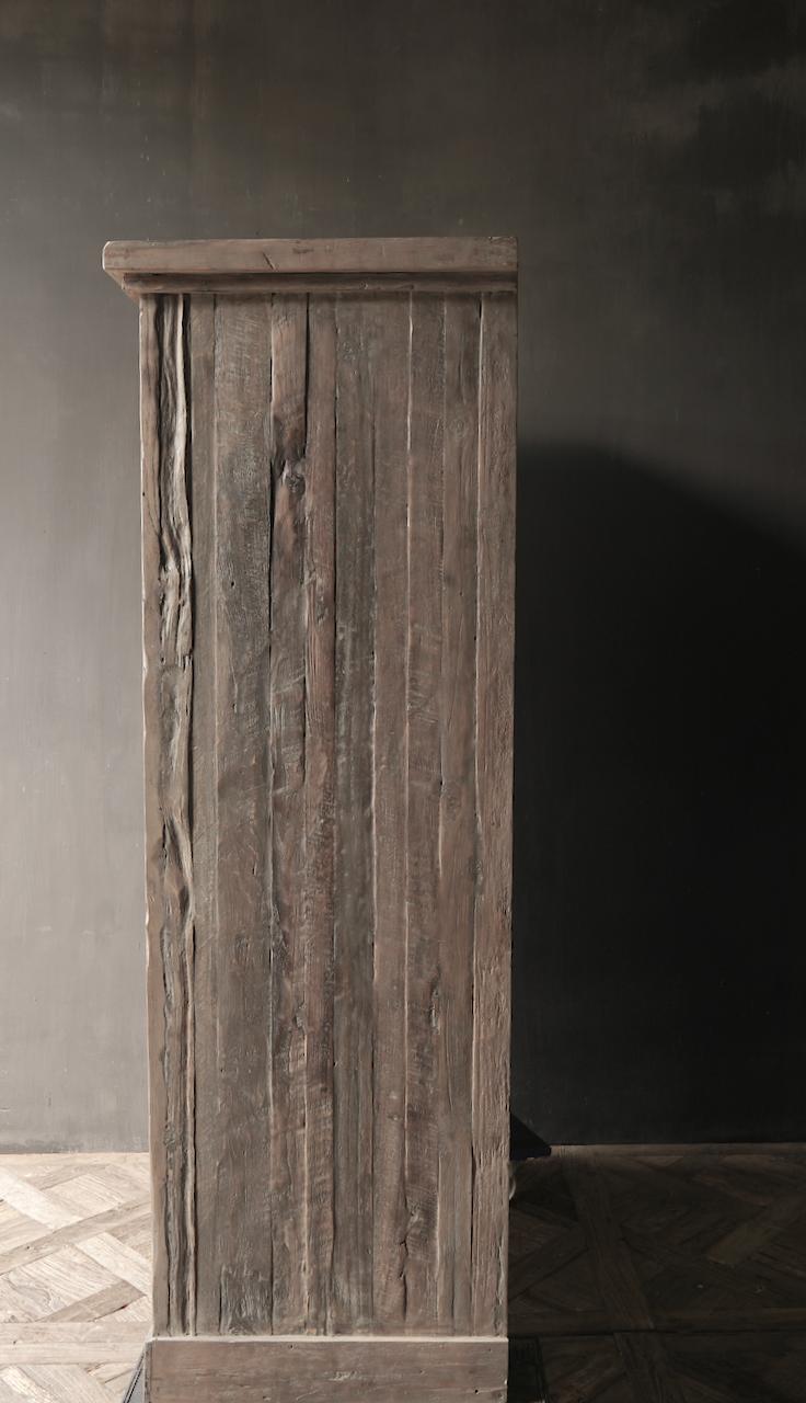 Prachtig Stoer Landelijk oud houten tweedeurs kast-4