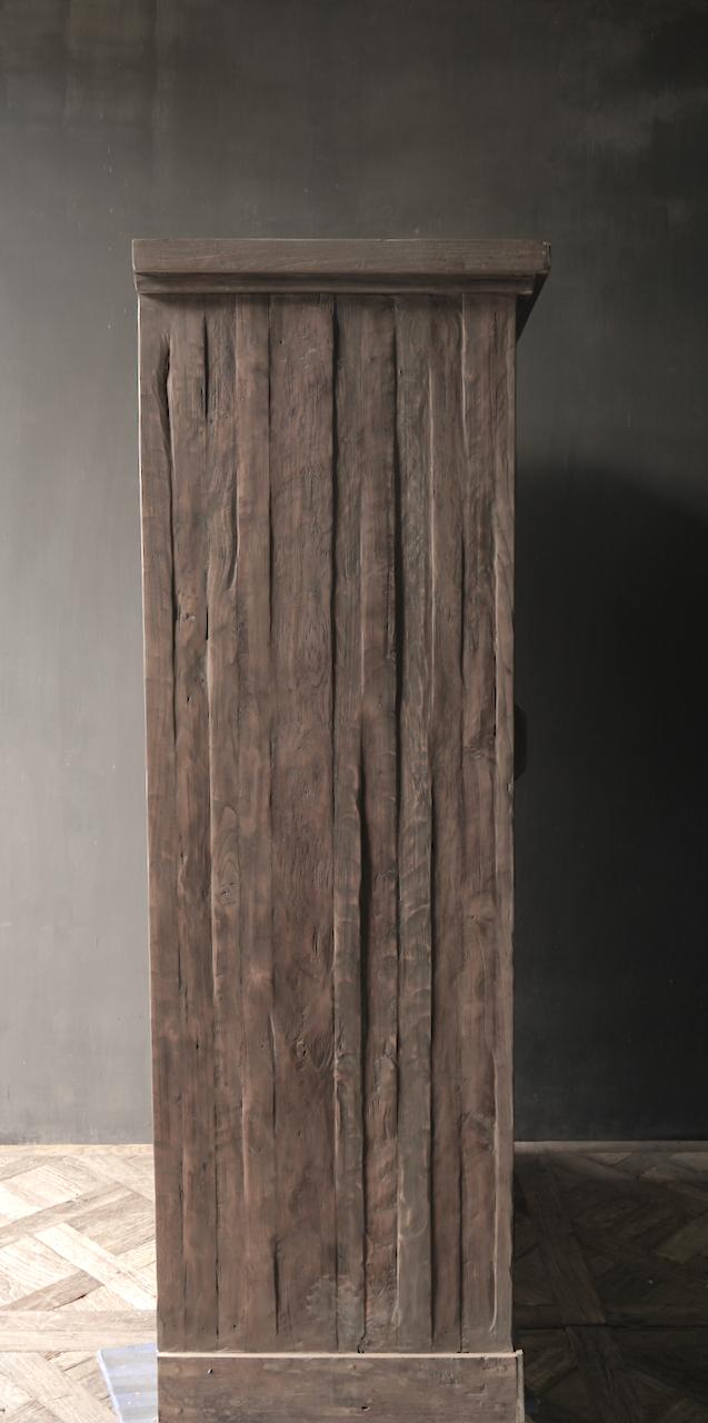 Prachtig Stoer Landelijk oud houten tweedeurs kast-5