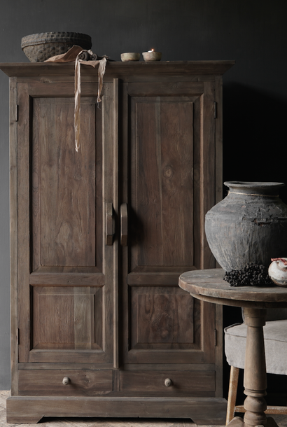* Reserved * Beautifully Tough Rural old wooden cabinet