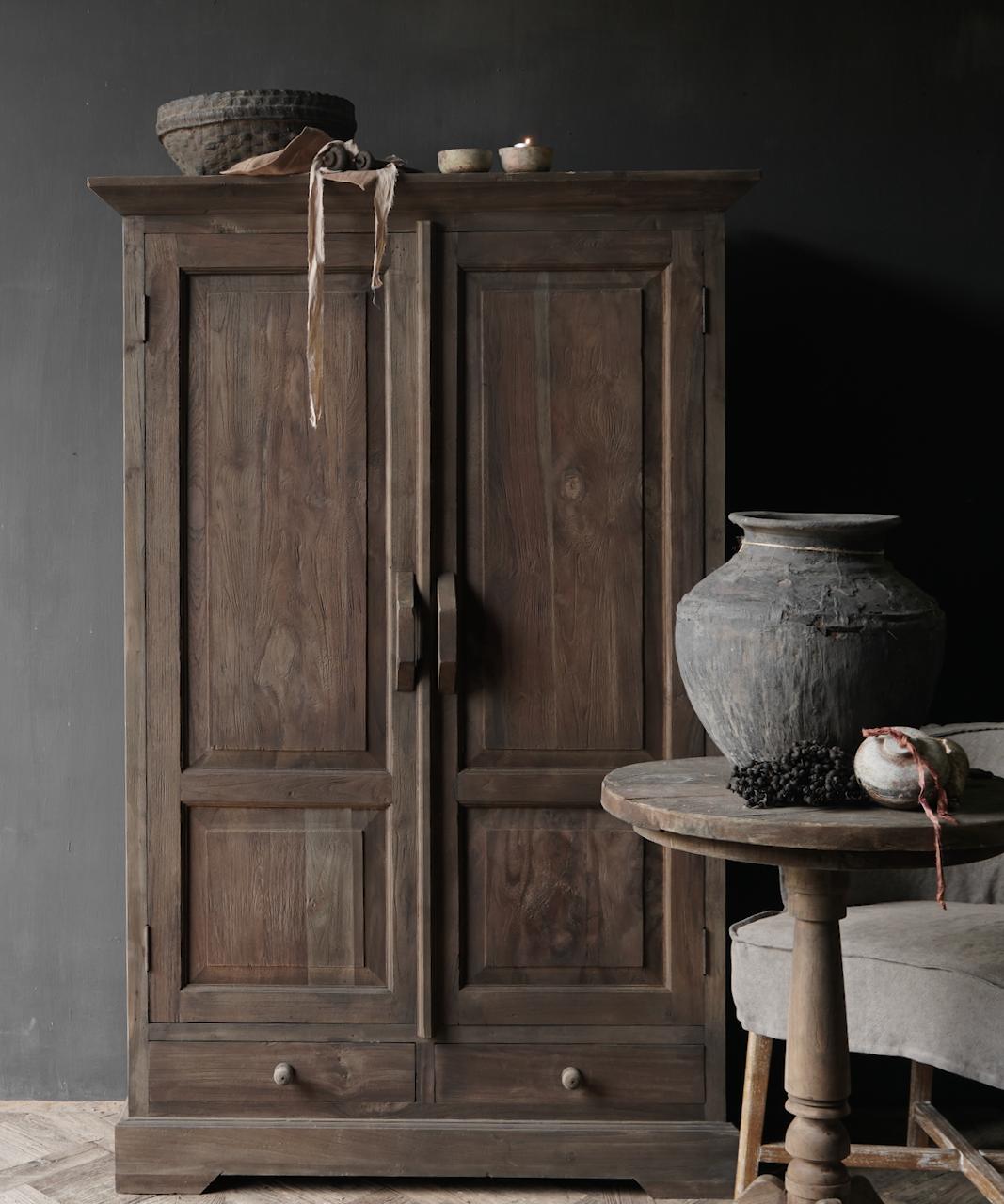 Prachtig   oud houten kast-1
