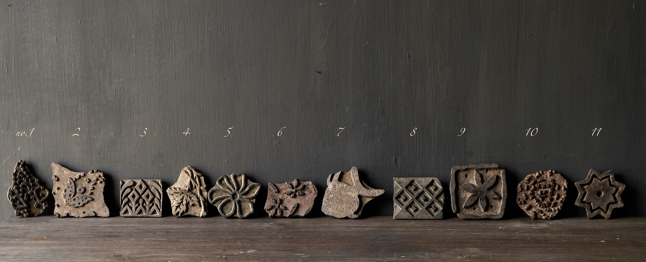 Napkin rings made from old unique wooden batik stamps-2