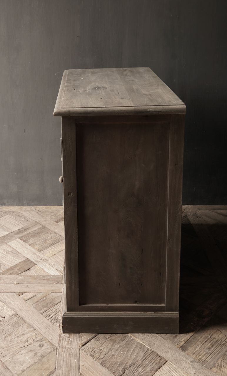 Old wooden drawer cabinet with a door Lieke-6