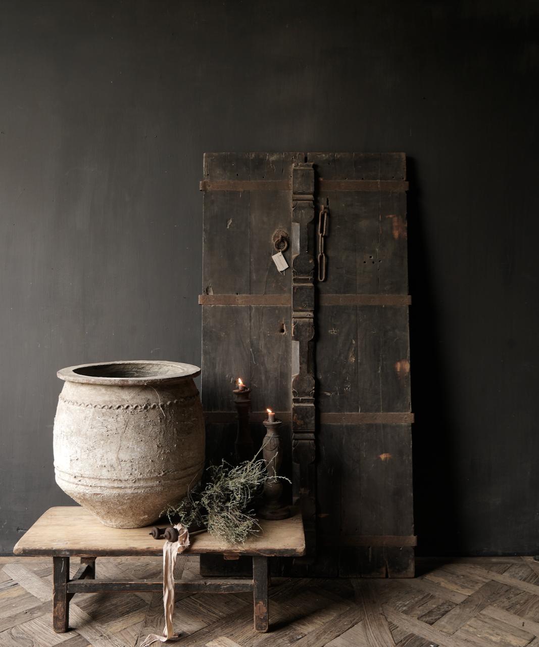 Prachtige Unieke Oude Antieke Nepalese houten Deur-1