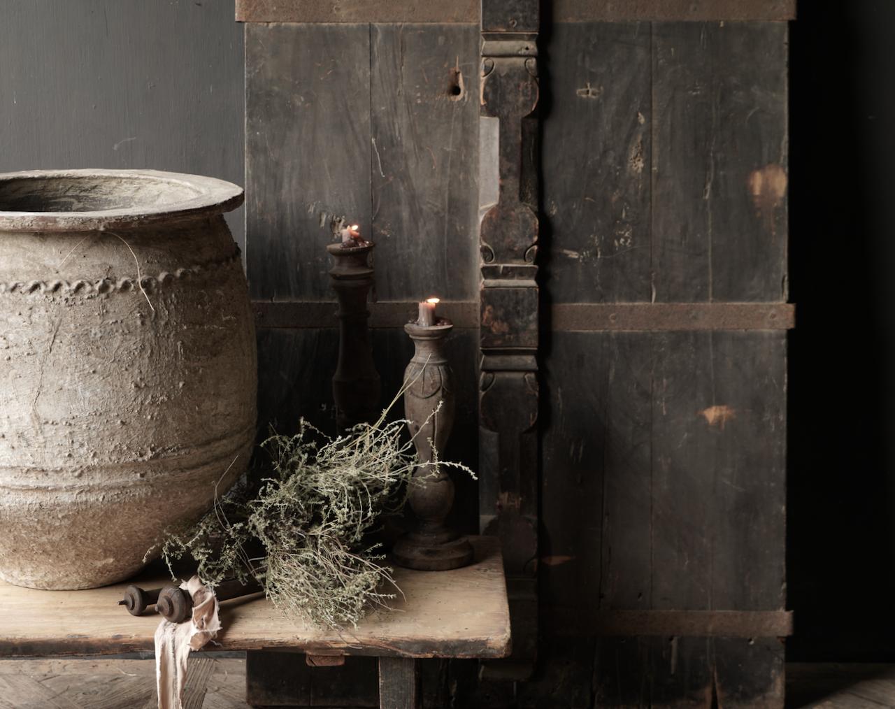 Prachtige Unieke Oude Antieke Nepalese houten Deur-2