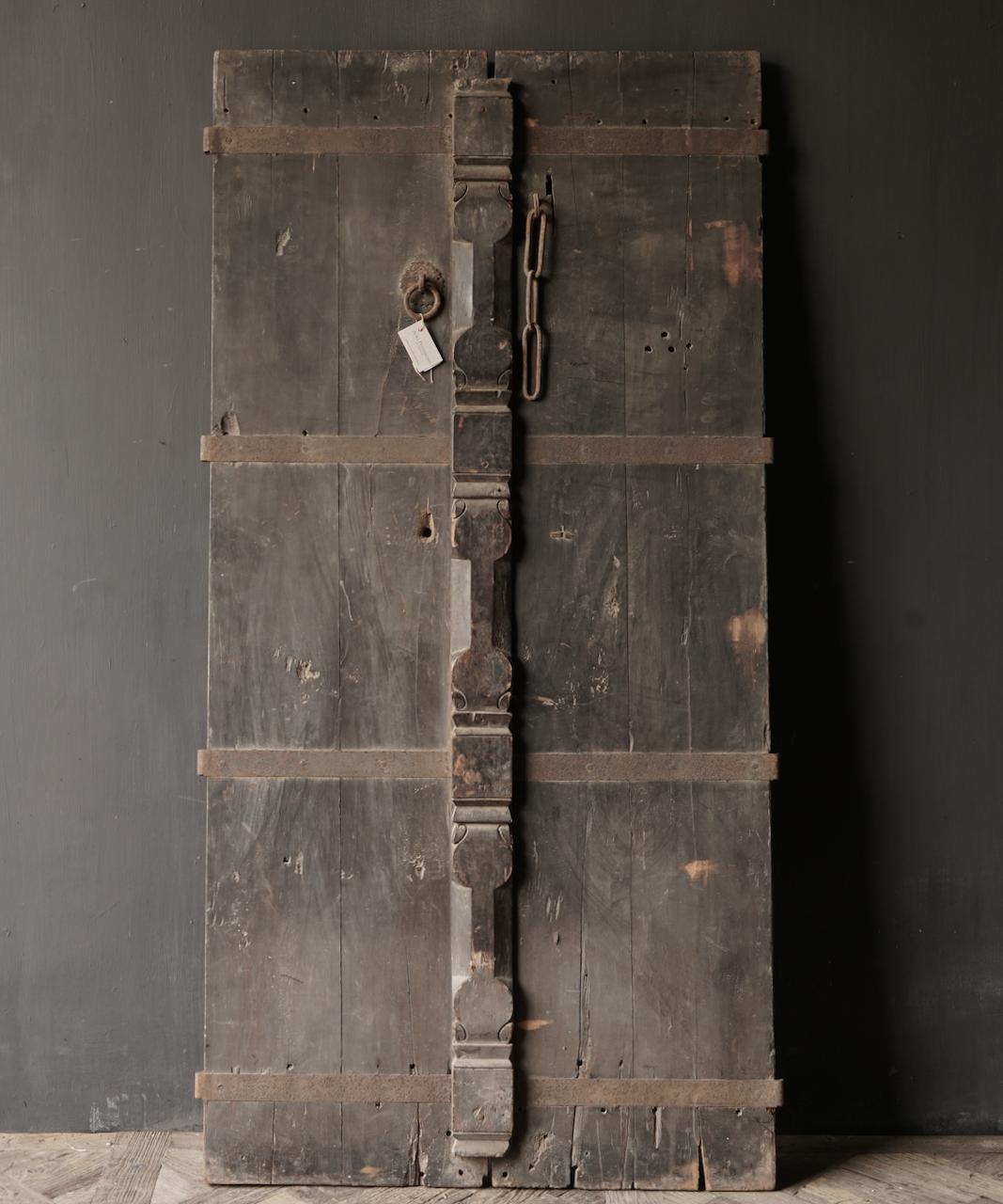 Prachtige Unieke Oude Antieke Nepalese houten Deur-3