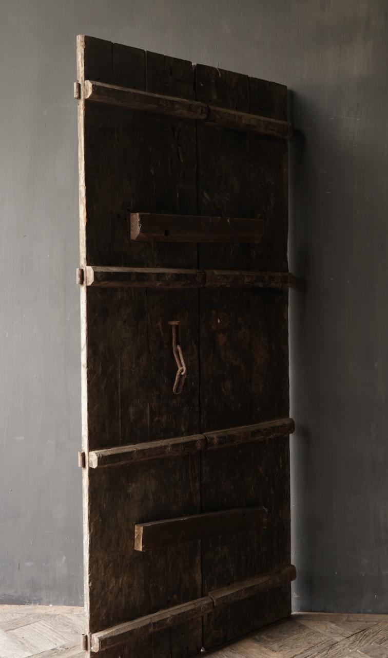 Prachtige Unieke Oude Antieke Nepalese houten Deur-4