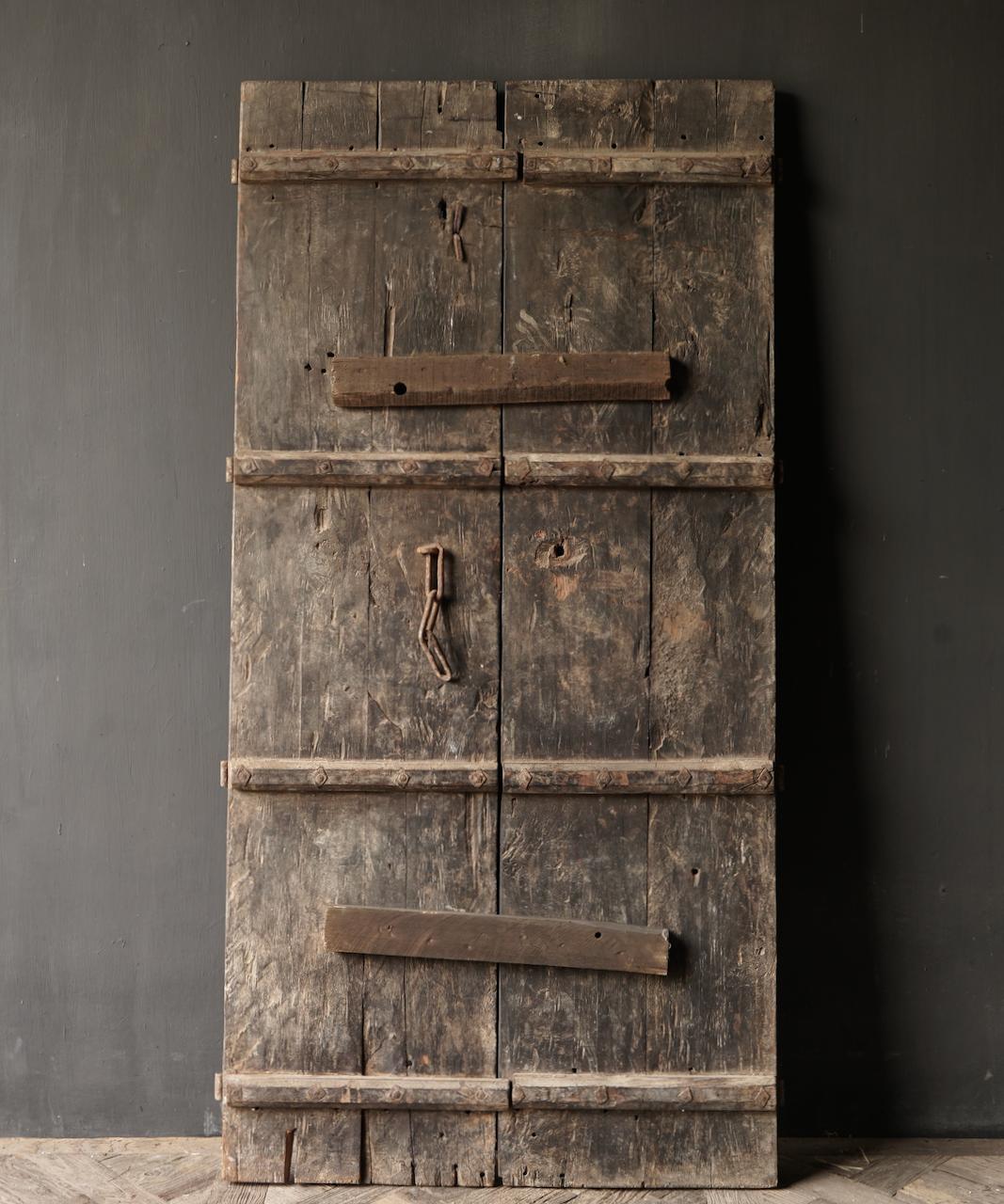 Prachtige Unieke Oude Antieke Nepalese houten Deur-5