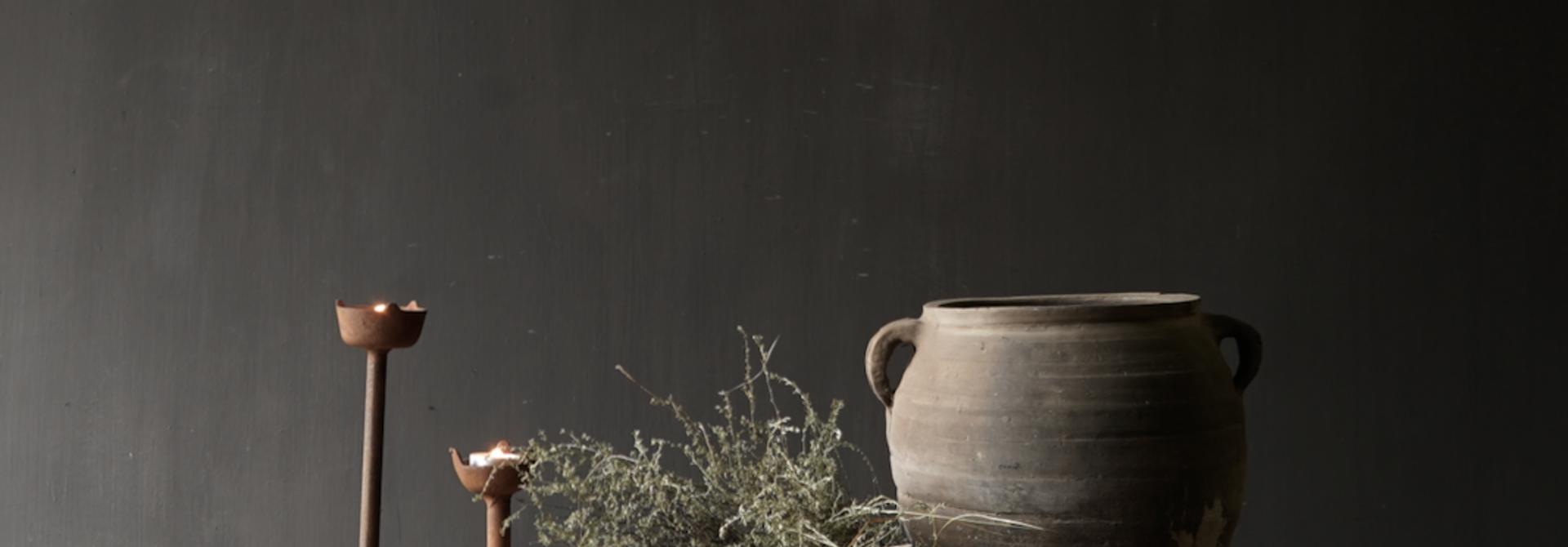 Oud houten thee tafeltje