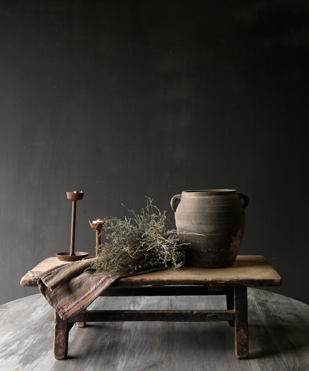 Oud houten thee tafeltje-1