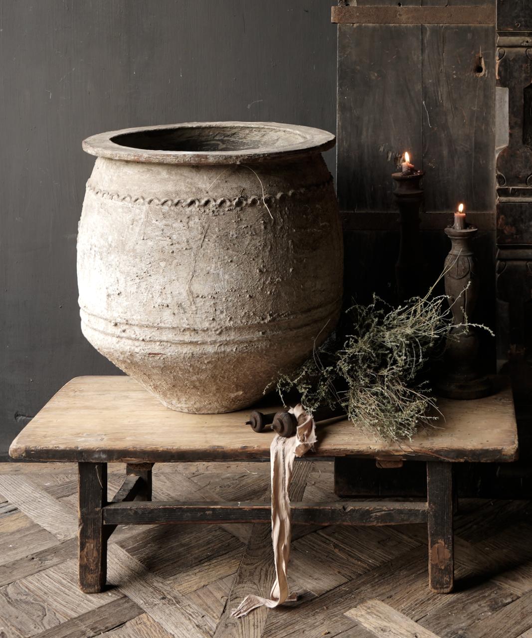 Oud houten thee tafeltje-2