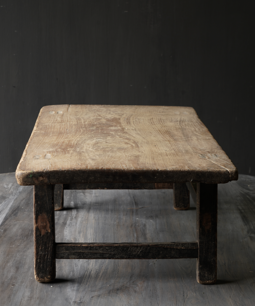 Oud houten thee tafeltje-4