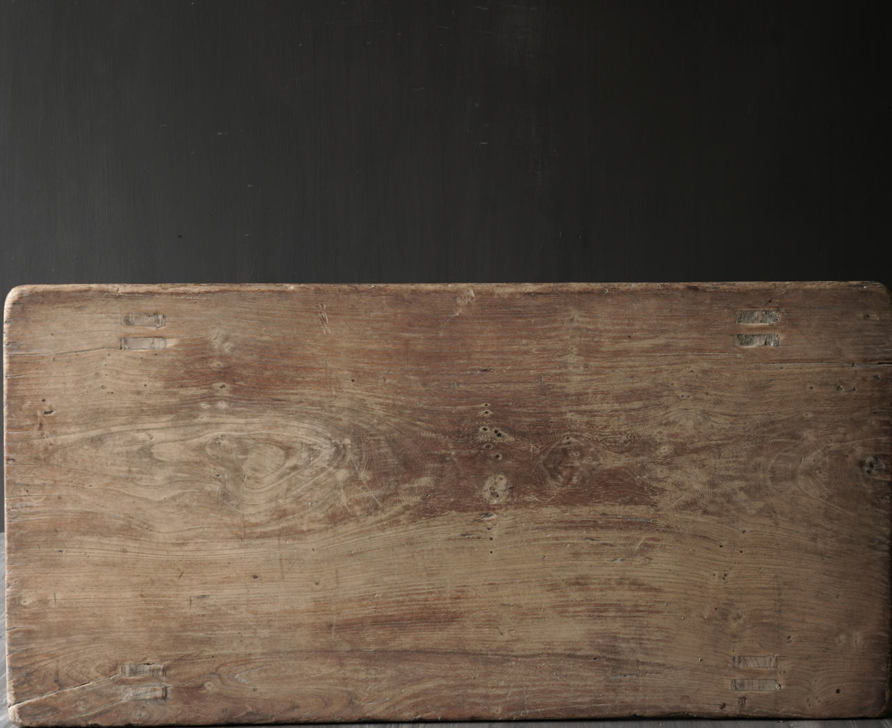 Oud houten thee tafeltje-5