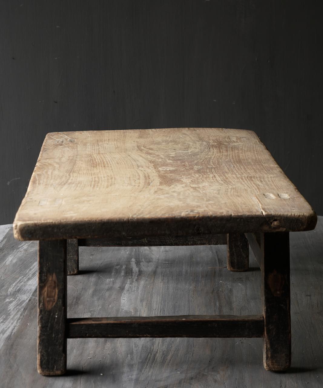 Oud houten thee tafeltje-6