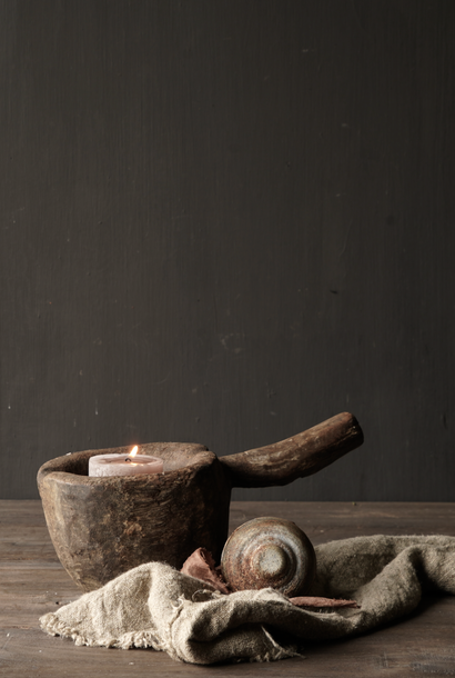 Old Wooden Mortar