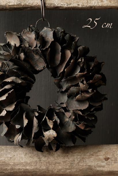 Stoere palm Fruit krans  Zwart