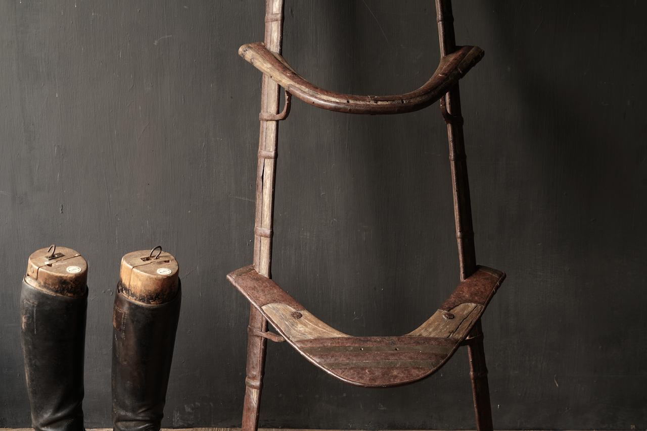 Oud Authentiek houten  Kameel zitting-3