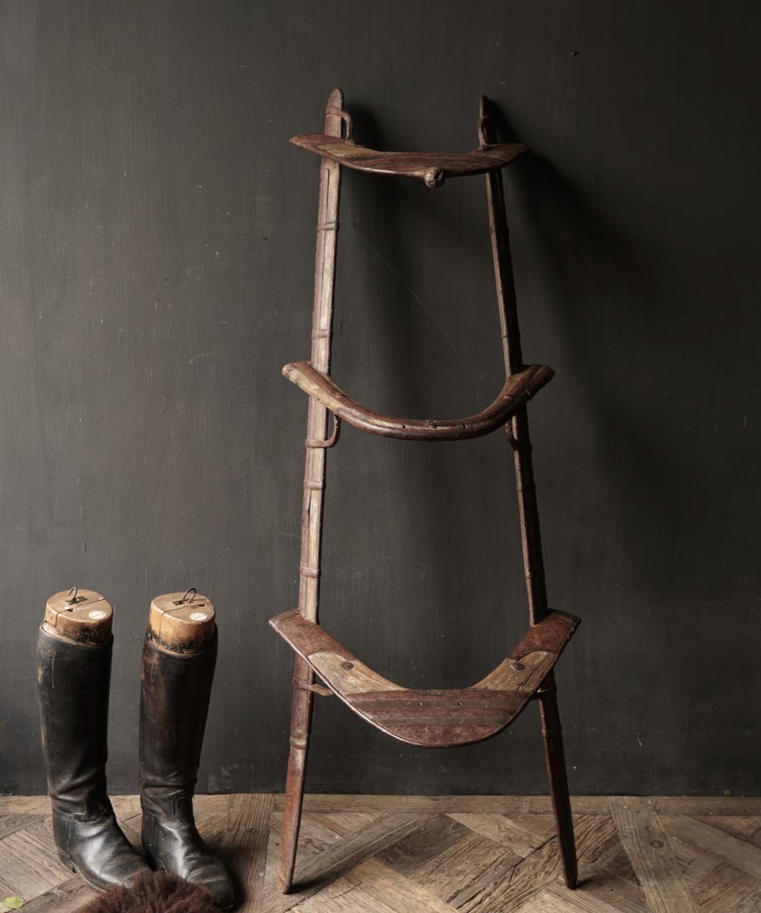 Oud Authentiek houten  Kameel zitting-1