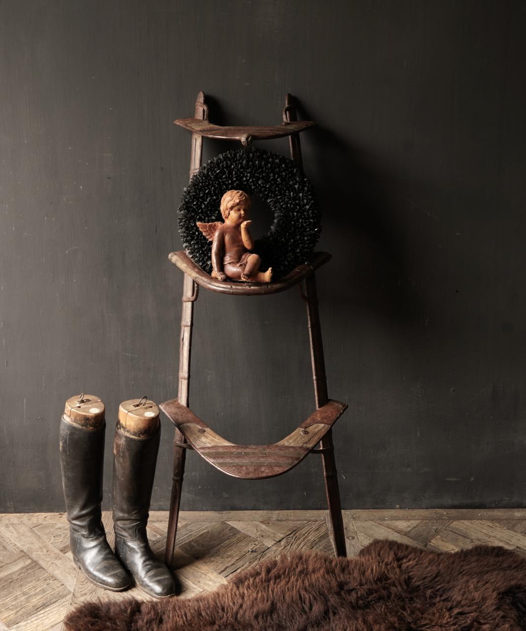 Oud Authentiek houten  Kameel zitting-2