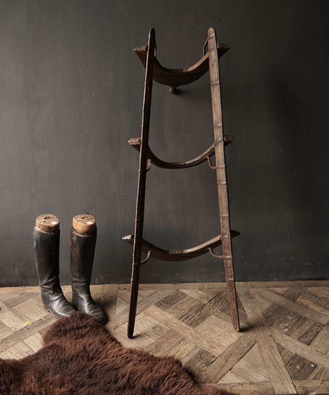 Oud Authentiek houten  Kameel zitting-4