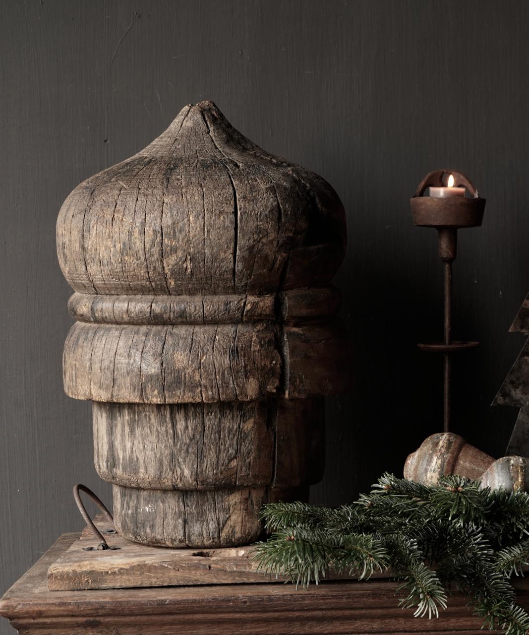 Prachtig groot uniek houten pinakel-4