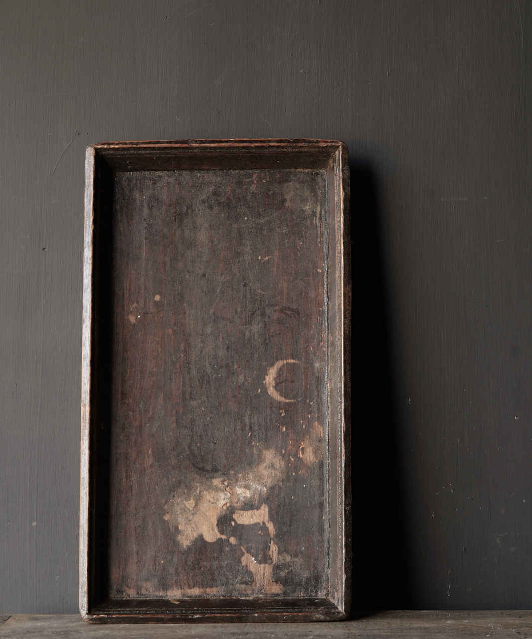 Authentisches altes Holztablett-2