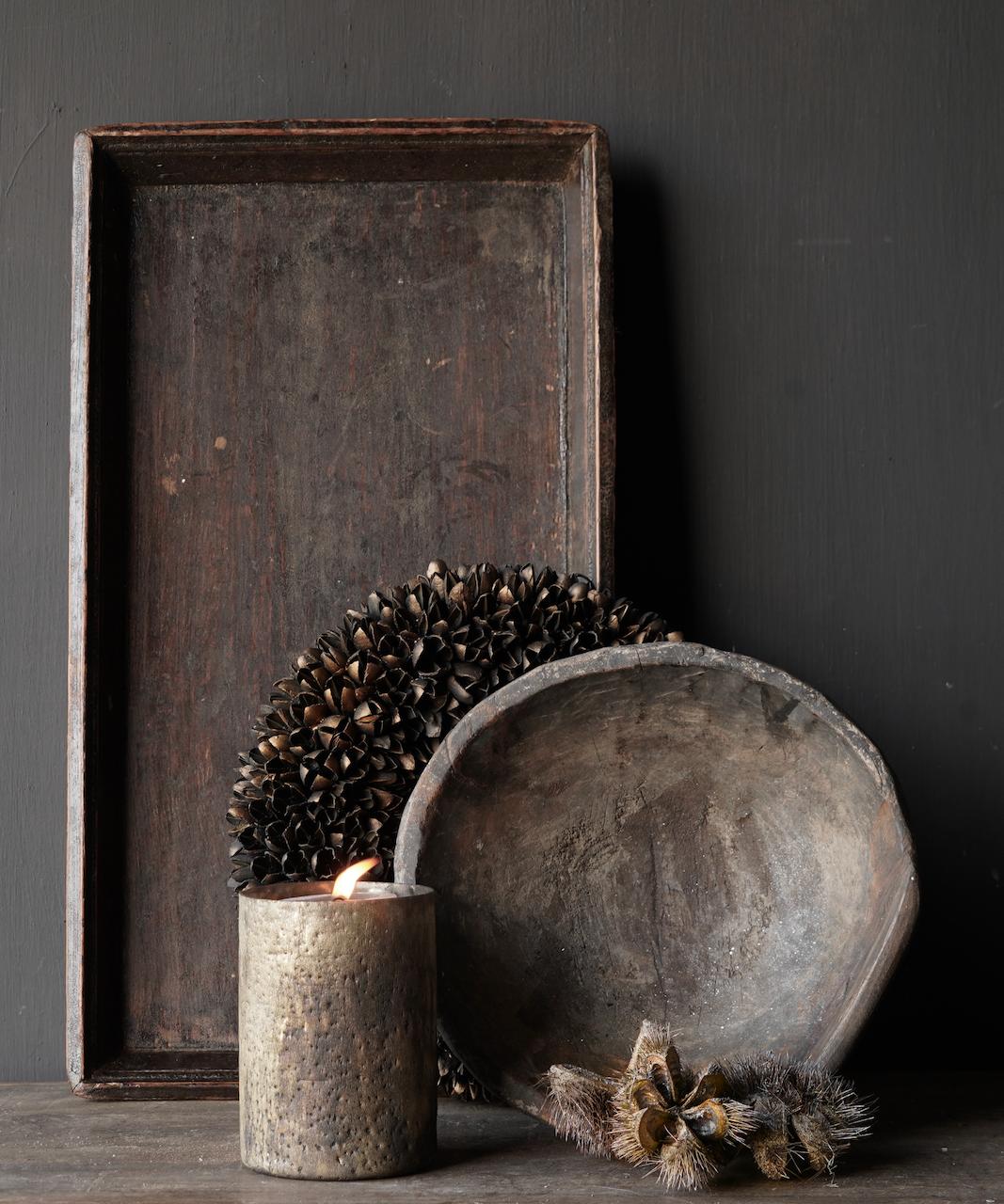 Authentiek Oud houten dienblad-4