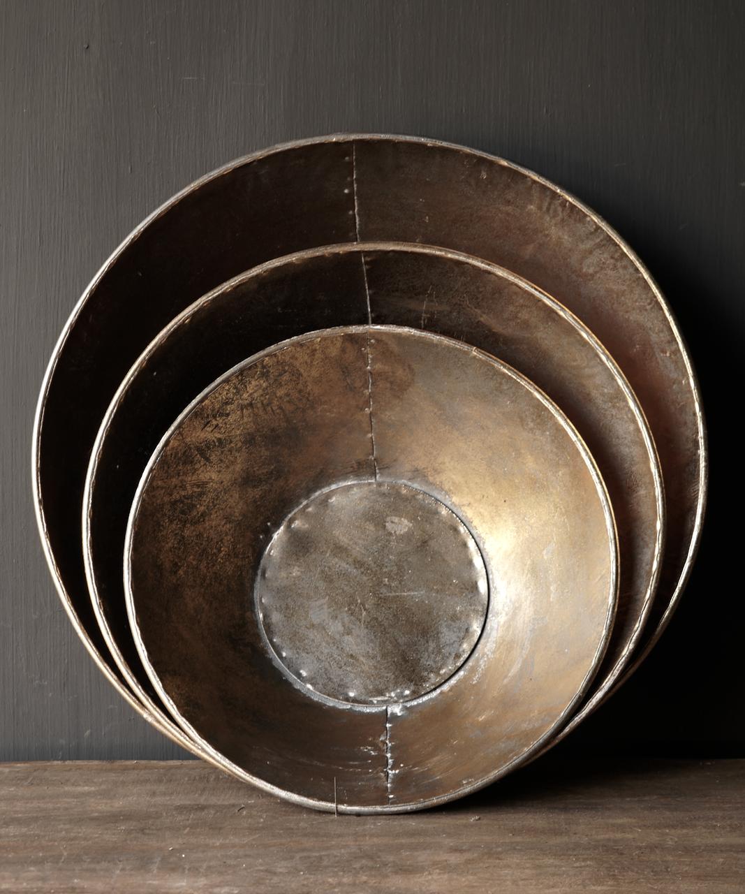 Goud/Brons metalen schalen-2