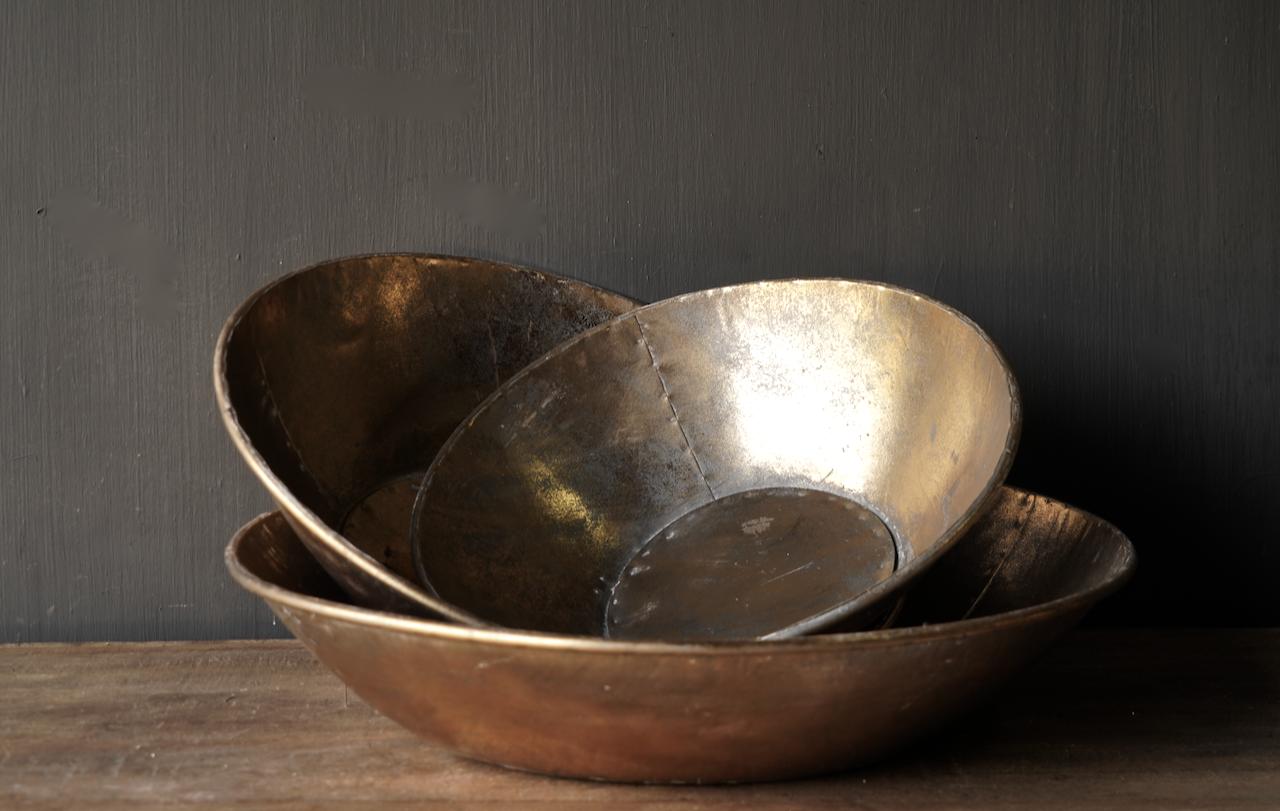 Goud/Brons metalen schalen-4