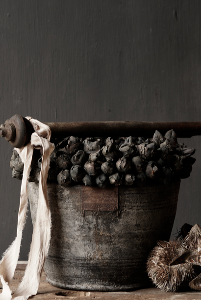 Nepalese old wooden Pot