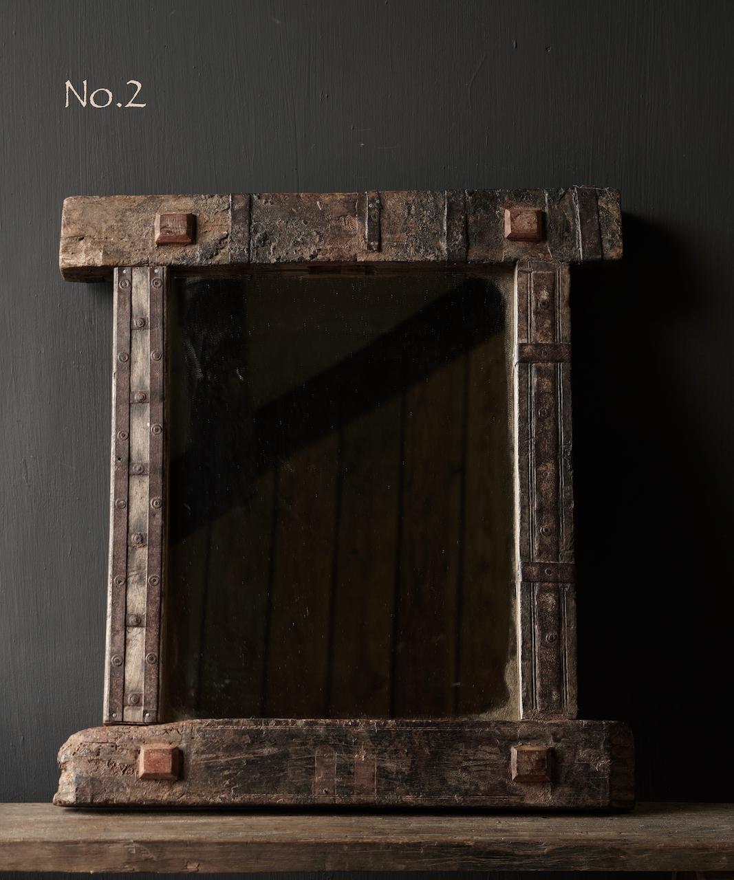 Authentischer Holzspiegel Indien-4