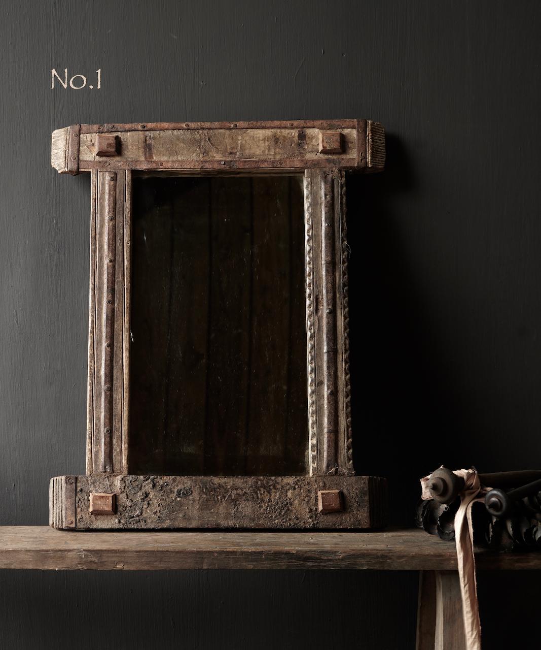Authentischer Holzspiegel Indien-2